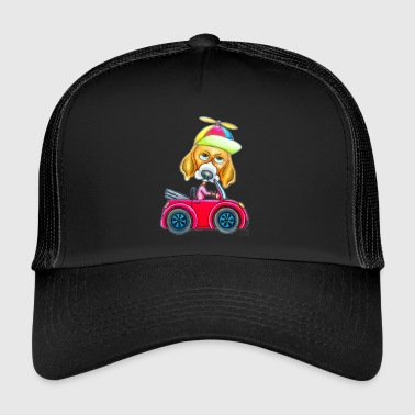 Dog Run Car. - Trucker Cap