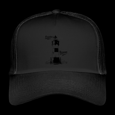 Seaside resort lighthouse coasts collection - Trucker Cap