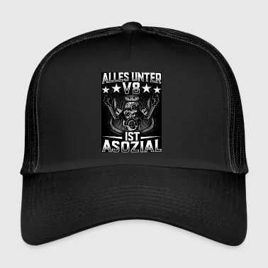Alt under V8 er ASOCIAL - Trucker Cap