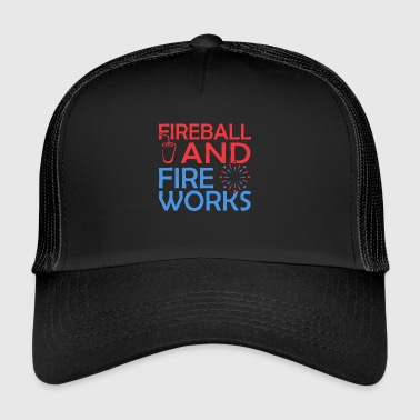 Fireball And Fireworks - Trucker Cap