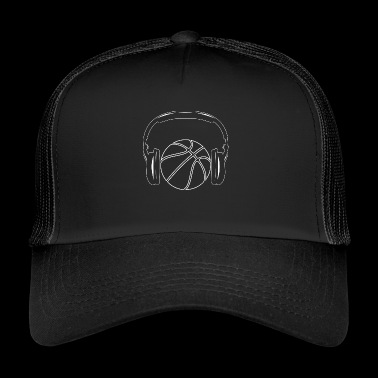 Basketball! BBall! Streetball! NBA! headphone - Trucker Cap