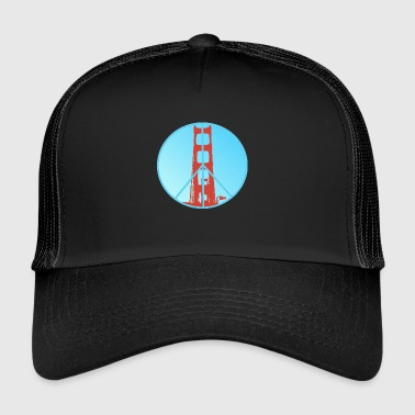 Golden Gate Peace - Trucker Cap