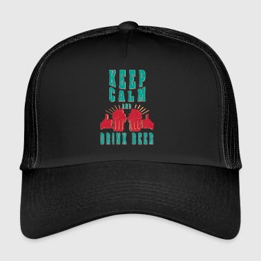 Cool beer Keep calm and drink beer - Trucker Cap