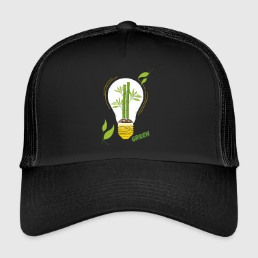 green light bulb - Trucker Cap