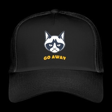 Grumpy cat go away coloful - Trucker Cap