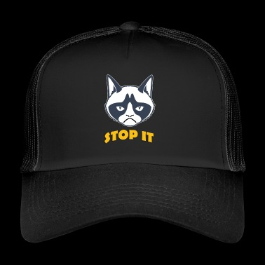 Grumpy cat stop the coloful - Trucker Cap