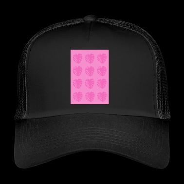Pink Camo Monstera Leaf - Trucker Cap