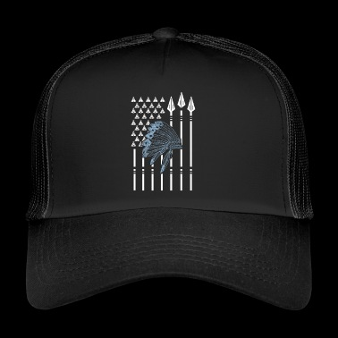 Native American Native American flag - Trucker Cap