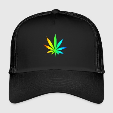 Marijuana Leaf Rainbow - Trucker Cap