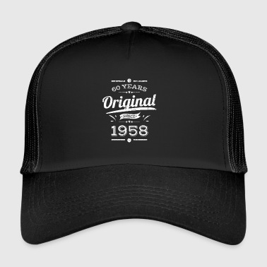 60 years / years: original since 1958 gift - Trucker Cap