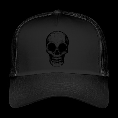 black death head - Trucker Cap