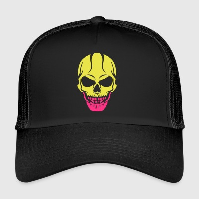 scary skull halloween crane drawing 2809 - Trucker Cap