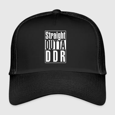 Straight Outta DDR - wit! - Trucker Cap