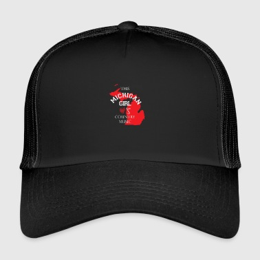 Esta copia de música country Michigan chica - Gorra de camionero