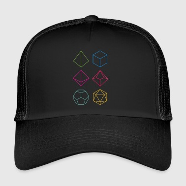 Minimal dnd (dungeons and dragons) dice - Trucker Cap