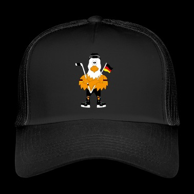 Cute german eagle ice hockey - Trucker Cap