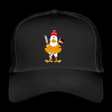 Cute german biathlon eagle - Trucker Cap