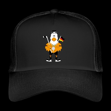 Cute german ice hockey eagle - Trucker Cap