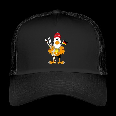 Cute german eagle nordic combination - Trucker Cap