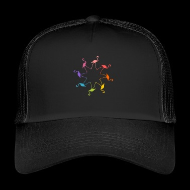 fenicotteri colorate in ambienti - Trucker Cap
