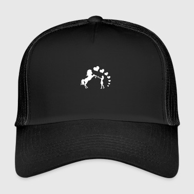 Horse heart love girl gift idea equitation - Trucker Cap