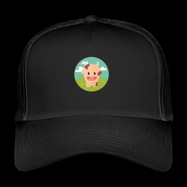 Cow on meadow - Trucker Cap