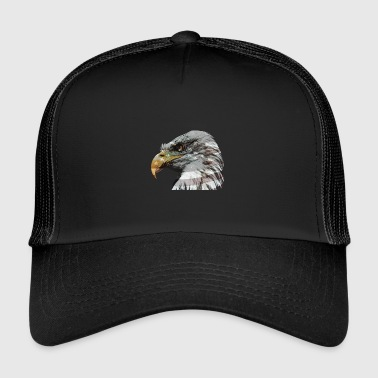 Bald eagle with American flag - Trucker Cap
