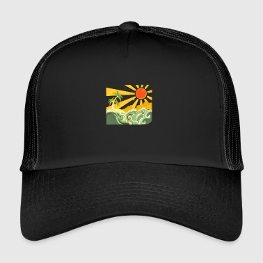 Sun, beach and palm - Trucker Cap