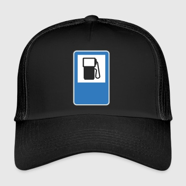 Road sign gas station - Trucker Cap