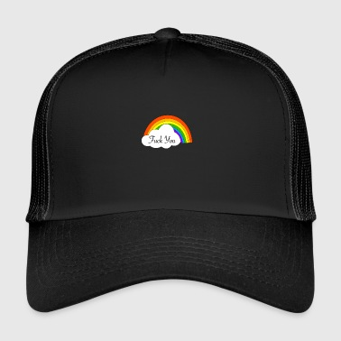 Rainbow Fuck you - Trucker Cap