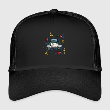 Just Married Just Hitched - Trucker Cap