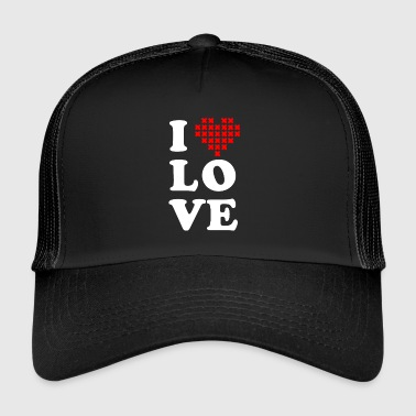 I love cross stitch - Trucker Cap
