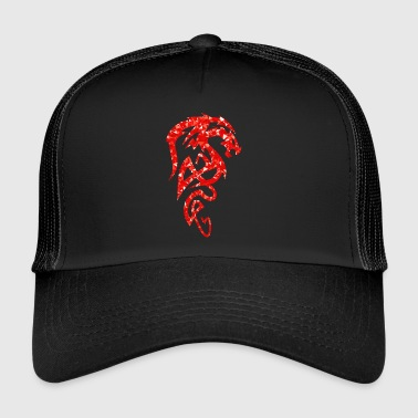 Dragon - Mosaic - red - Trucker Cap