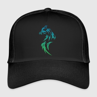 loup tribal - Trucker Cap