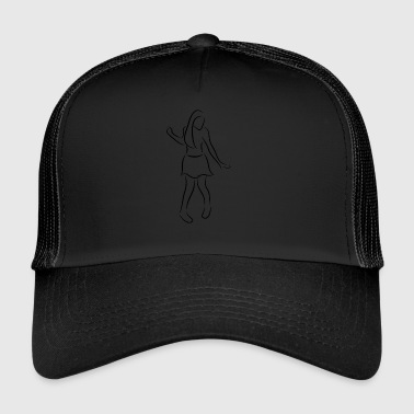 shuffle woman dance festival geschenk party - Trucker Cap