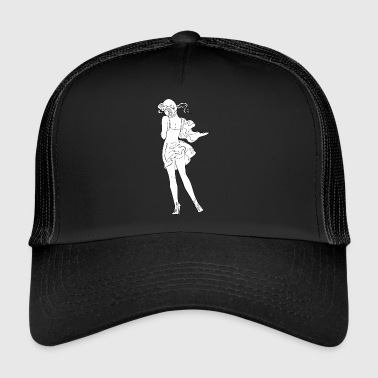 pinup girl with open ass - Trucker Cap