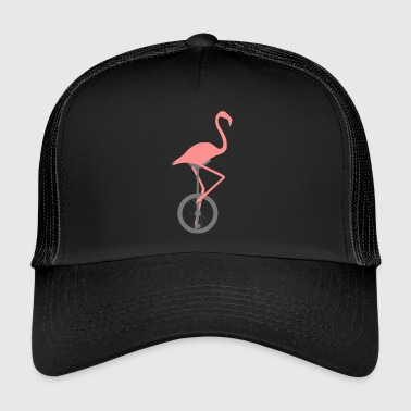Flamingo sur monocycle - Trucker Cap