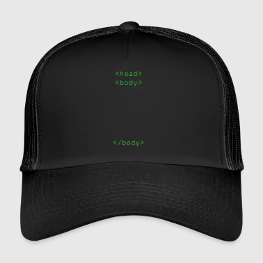 Head Body Html Tags cadeau - Trucker Cap