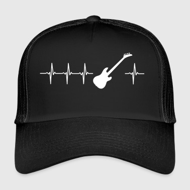I love electric guitar (guitar heartbeat) - Trucker Cap
