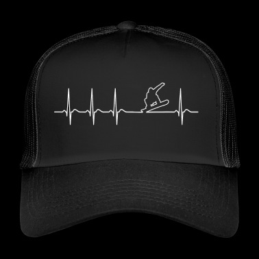 Heartbeat snowboarders grappig Cool Funny - Trucker Cap