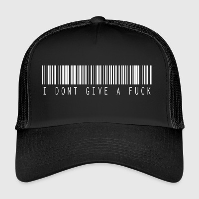 I don t give a fuck barcode white - Trucker Cap