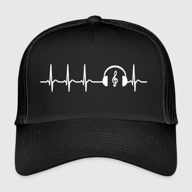 Heart beat music singer teacher band cool saying - Trucker Cap