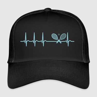 Heartbeat squash player cool funny gift - Trucker Cap