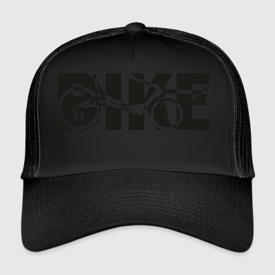 BIKE reclining x black - Trucker Cap