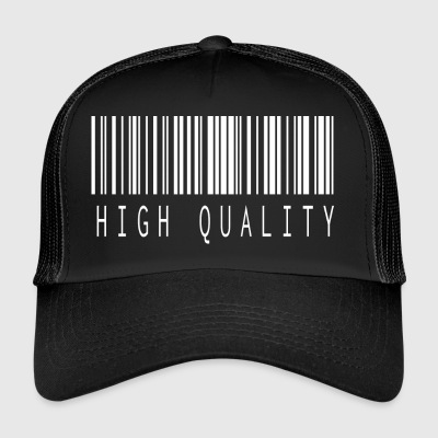 HIGH QUALITY BARCODE WHITE - Trucker Cap