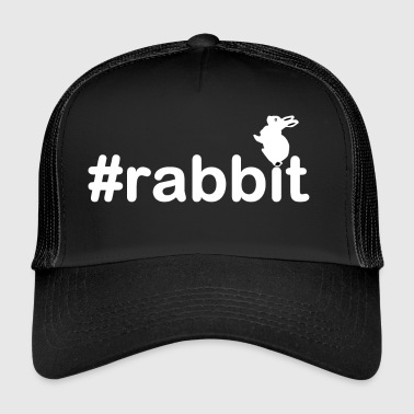 Too Cute Rabbit #rabbit white - Trucker Cap
