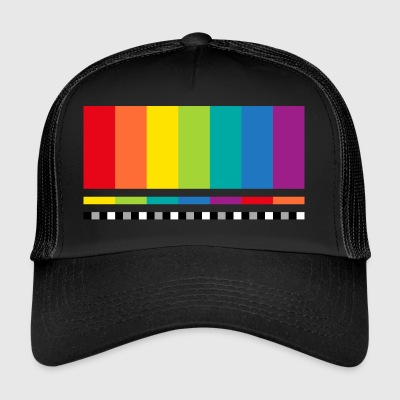 TV testmönster Big Bang skärmdump Mac display - Trucker Cap
