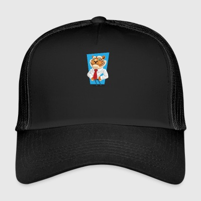 tiger in suit - Trucker Cap