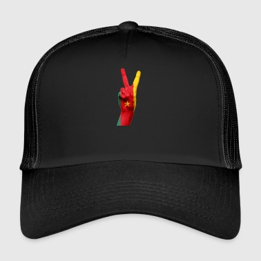 cameroon hand and flag - Trucker Cap