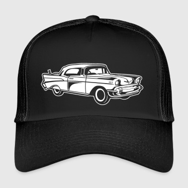 Chevy Bel Air / Veteranbiler 01_weiß - Trucker Cap